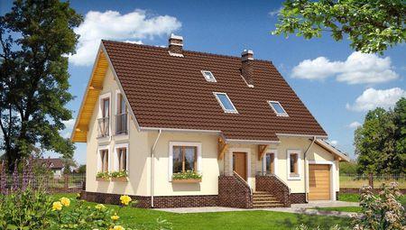 Проект стильной виллы с площадью 170 m²