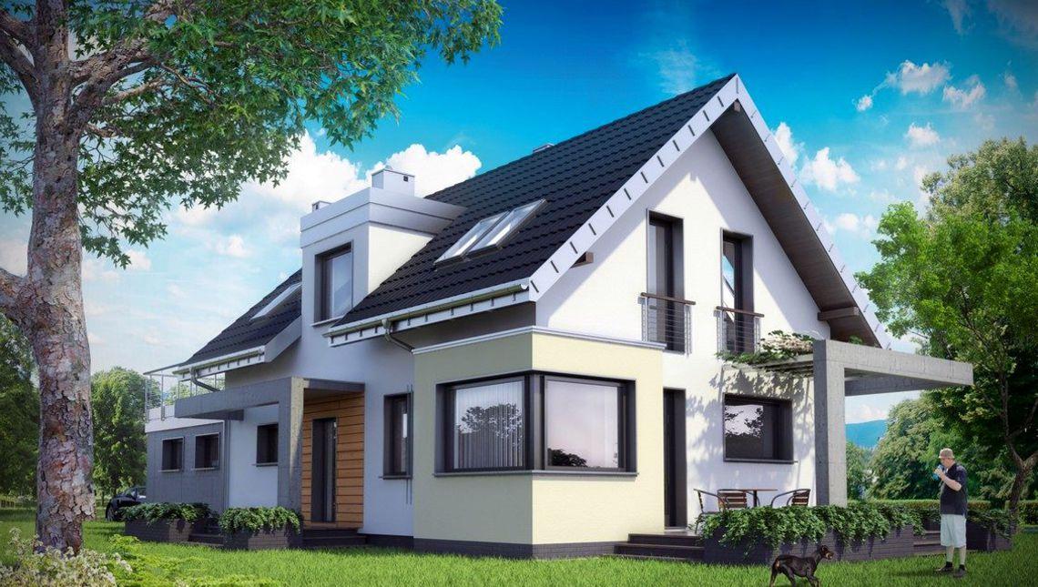 Изумительный проект дома с мансардой для узкого участка