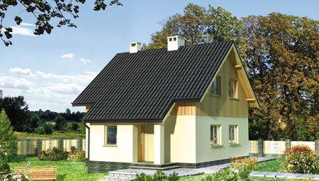 Проект оригинальной усадьбы с деревянной мансардой