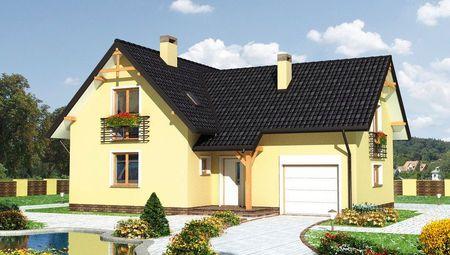 Проект оригинального загородного дома с площадью 180 m²