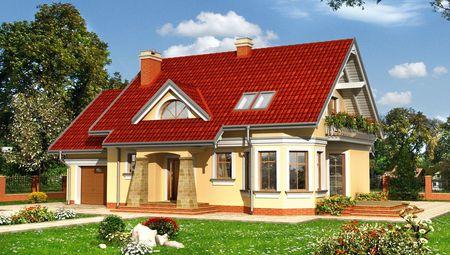 Запоминающийся проект дома с мансардой площадью до 200 m²