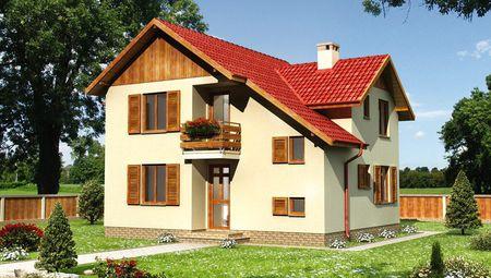 Жилой дом необычной планировки площадью 110 квадратов