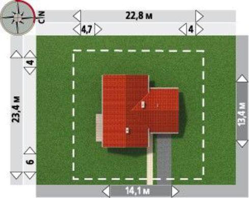 Архитектурный проект коттеджа с нотками кантри