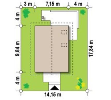 Проект небольшого коттеджа для узкого участка