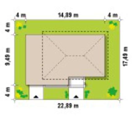 Проект современного двухэтажного дома простой конструкции