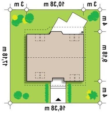 Проект небольшого эко дома с мансардой