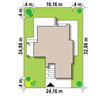 Двухэтажный особняк с плоской кровлей