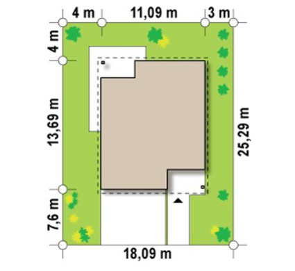 Проект двухэтажного дома с подвалом
