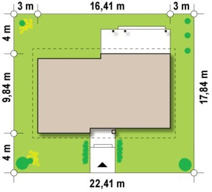 Проект одноэтажного коттеджа с чердаком