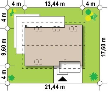 Проект классического дома с гаражом, дополнительной спальней