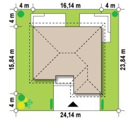 Проект одноэтажного дома с несколькими ванными комнатами