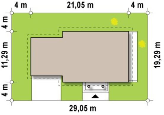 Проект особняка с гаражом для двух авто