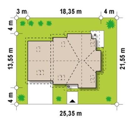 Проект дома с дополнительной гостиной на 2 этаже