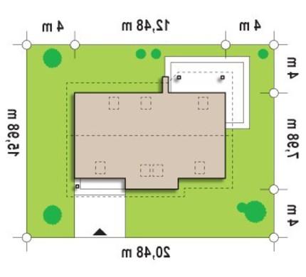 Проект классического дома с комнатой на первом этаже