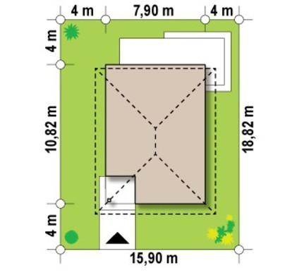 Проект небольшого современного дома с кирпичным фасадом
