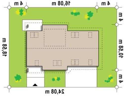 Проект большого дома с мансардой, гаражом на две машины