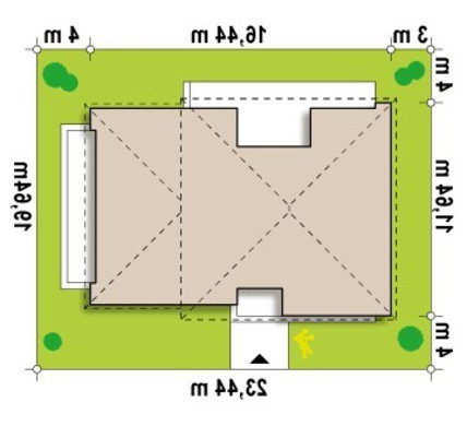 Современный просторный коттедж с плоской крышей