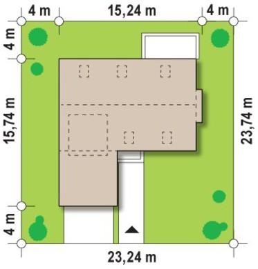 Проект дома с террасой на втором этаже и пятью спальнями