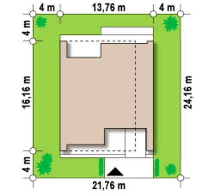 Проект современного двухэтажного дома с гаражом