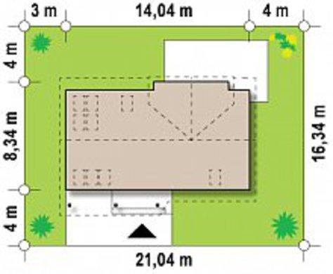 Проект увеличенного дома по типу 4M220