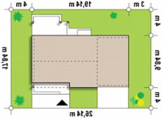 Проект современного дачного дома по типу 4M272 с гаражом