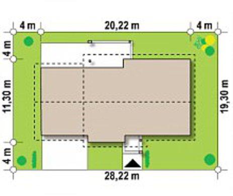 Комфортный дом с гаражом на две машины по типу 4M334