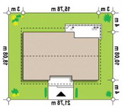 Дом с жилой мансардой и гаражом по версии проекта 4M538