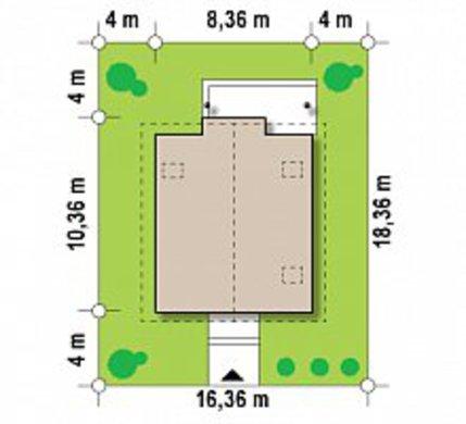 Популярный проект дома по типу 4M540 с кирпичным фасадом