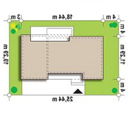 Проект современного дома по типу 4M590 с гаражом на одну машину