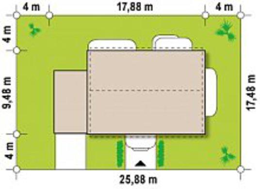 Двухэтажный дом по типу 4M606 с гаражом