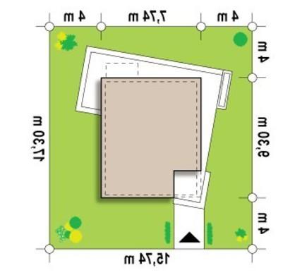 Проект небольшого коттеджа с тремя уютными спальнями