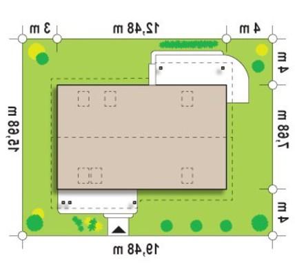 Проект классического коттеджа с кабинетом и большой ванной