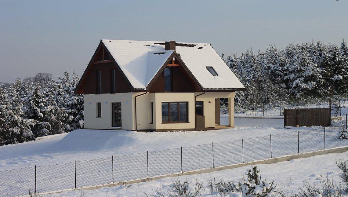 Проект уютного дома с дневной зоной