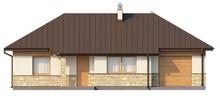Проект небольшого одноэтажного коттеджа интересного дизайна