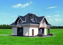Проект стильного загородного дома с площадью 190 m²