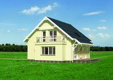 Красивый загородный дом с шестью спальнями и эркером