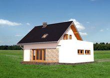 Архитектурный проект стильной усадьбы с площадью 140 m²