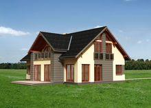 Проект современного особняка с большим балконом и пятью спальнями