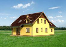 Проект стильного загородного коттеджа с семью просторными комнатами