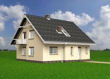 Мансардный дом 170 m² в традиционном стиле