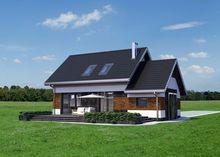 Дом с гаражом с тремя спальнями в мансарде