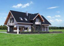 Великолепный проект дома с гаражом на 2 авто