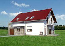 Великолепный проект дома с просторной террасой над гаражом