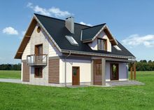 Красивый проект в классическом стиле усадьбы с мансардой
