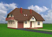 Проект дома с мансардой 9 на 13