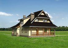 Небольшой дом с интересным дизайном