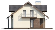 Проект дома с гаражом, мансардой и хозяйственным помещением