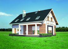 Мансардный дом с верандой