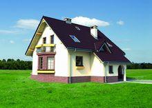 Красивый дом с гаражом и эркером
