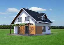 Проект современного особняка на четыре спальни